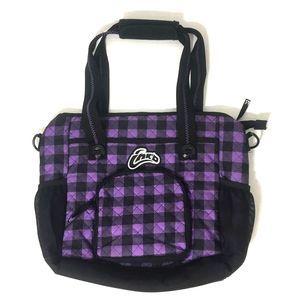 SKULLCANDY Purple & Black Checkered Laptop Bag